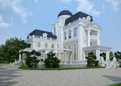 Thiết kế biệt thự kiểu Pháp mái vòm