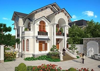 Thiết kế biệt thự kiểu Pháp tân cổ điển