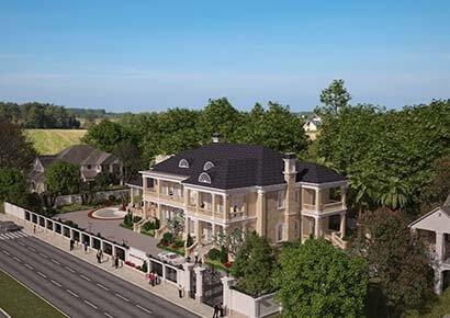 Thiết kế biệt thự kiểu Pháp 2 tầng