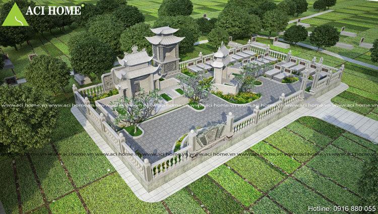 Thiết kế xây dựng mộ tổ theo phong thủy á đông