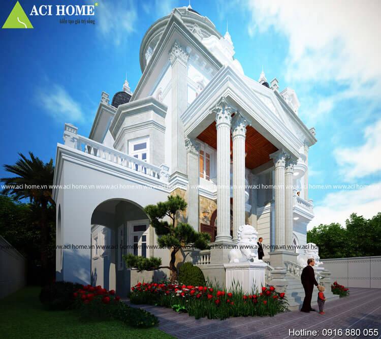 Công trình nhà biệt thự cổ điển