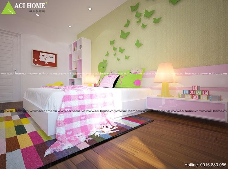Thiết kế không gian phòng ngủ cho bé