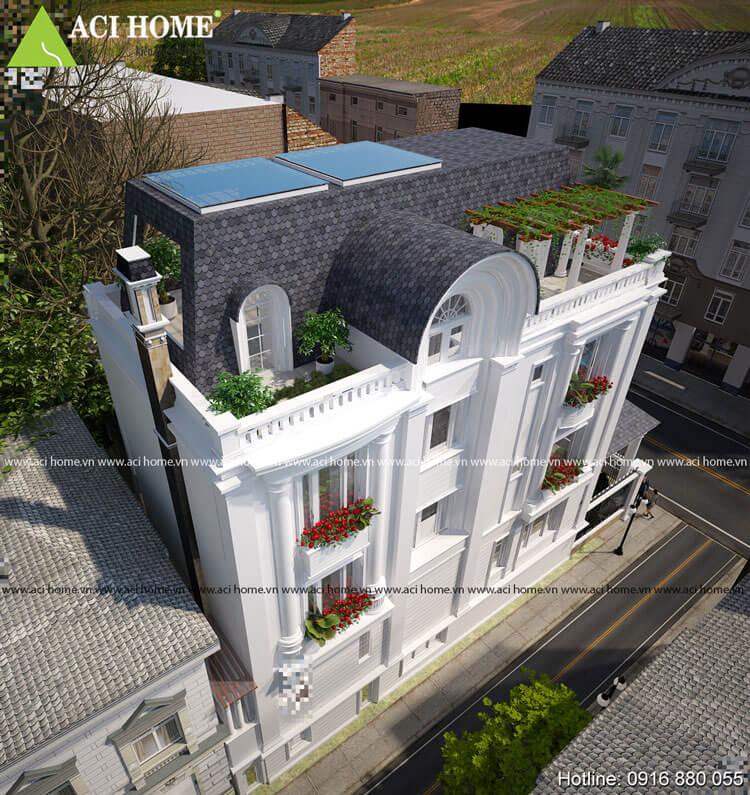 biệt thự Pháp 3 tầng mái Mansard