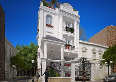 Mẫu thiết kế biệt thự kiểu Pháp tại tp Hồ Chí Minh