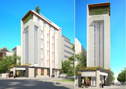 thiết kế nhà phố kết hợp văn phòng