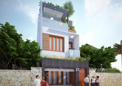 Ảnh thiết kế nhà phố Thái Bình