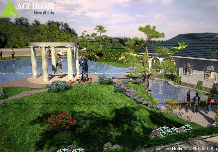 thiết kế không gian vườn