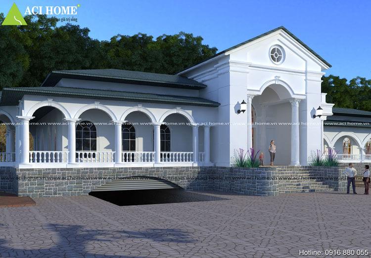 Thiết kế biệt thự nhà vườn tại thành phố Tam Điệp Ninh Binh view 2