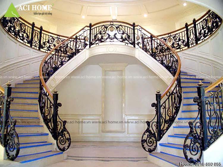 thiết kế cầu thang phong thủy