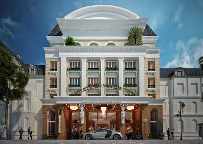 thiết kế khách sạn cổ điển 7 tầng