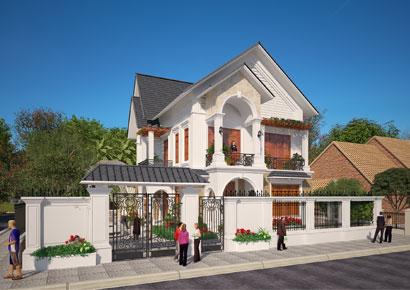 Thiết kế biệt thự kiểu Pháp tân cổ điển tại Sóc Sơn