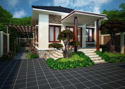 thiết kế biệt thự nhà vườn phong cách hiện đại