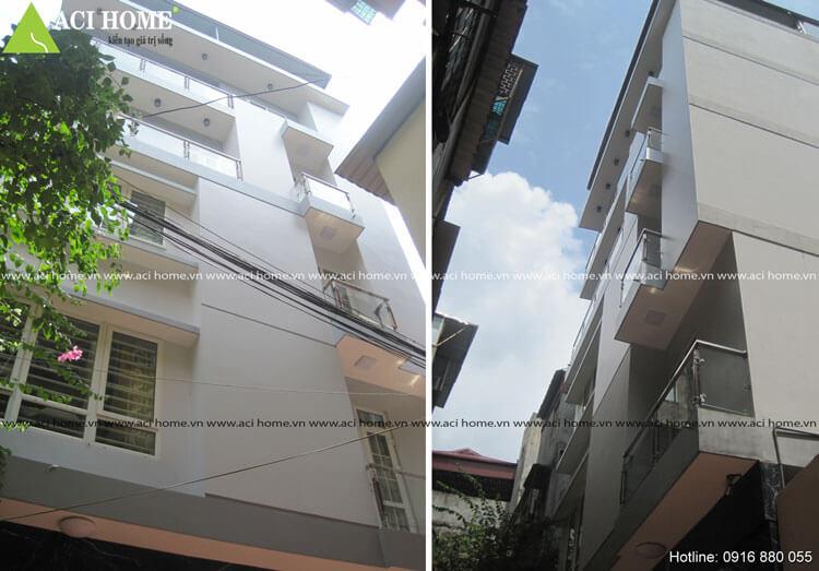 Hoàn thiện nhà phố hiện đại 6 tầng