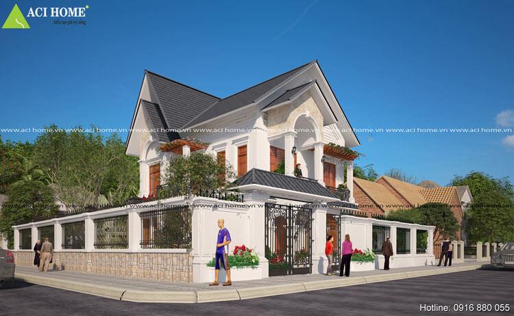 Mẫu thiết kế biệt thự tân cổ điển tại Ninh Bình