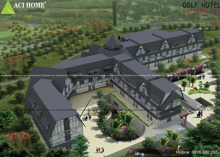 Mẫu thiết kế khách sạn cổ điển 3 sao