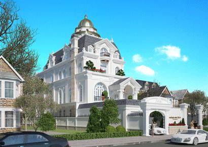 Thiết kế biệt thự lâu đài kiểu Pháp