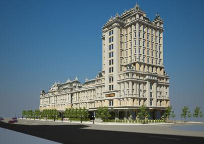 thiết kế khách sạn kiêm trung tâm thương mại Việt Long