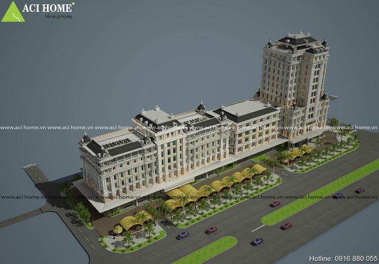 Mẫu thiết kế trung tâm thương mại Việt Long