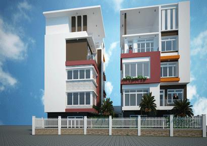 Thiết kế nhà phố cân đối
