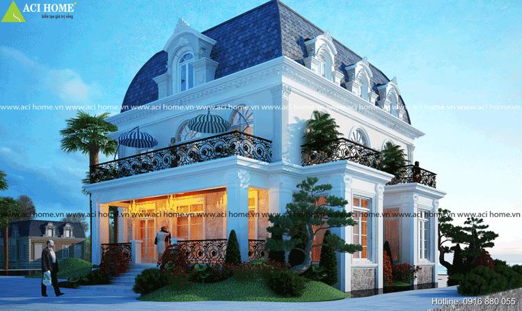 biệt thự cổ điển Pháp 2 tầng tại Bình Dương