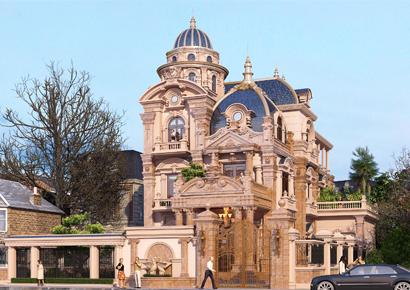 Thiết kế biệt thự kiểu Pháp cổ điển