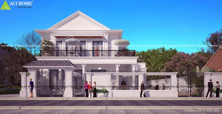 Thiết kế biệt thự tân cổ điển tại thành phố Hà Tĩnh