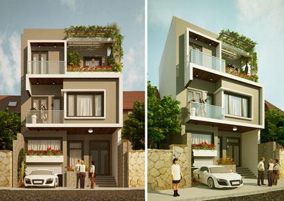 thiết kế nhà phố 3 tầng đẳng cấp tại Đông Anh