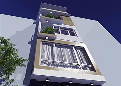 thiết kế nhà phố hiện đại 5 tầng