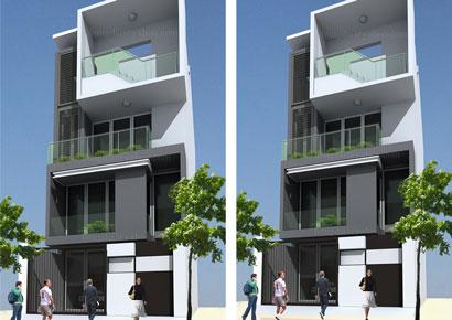 Thiết kế nhà phố hiện đại tại thành phố Lào Cai