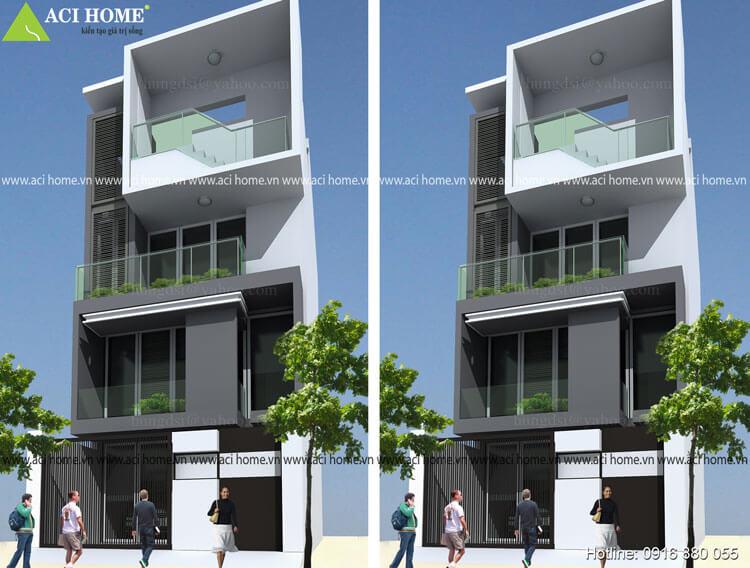 Thiết kế nhà phố hiện đại tại Lào Cai