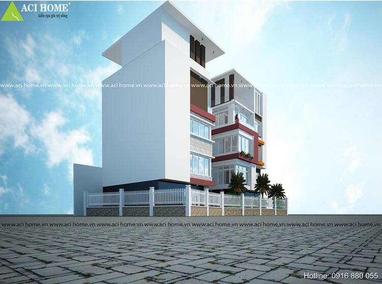 Không gian nhà phố song lập thiết kế ấn tượng
