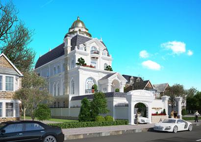 Thiết kế biệt thự kiểu Pháp tại Hà Nội