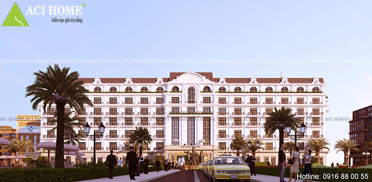 Thiết kế khách sạn 4 sao kiểu cổ điển tại bãi biển Hải Tiến - View 1