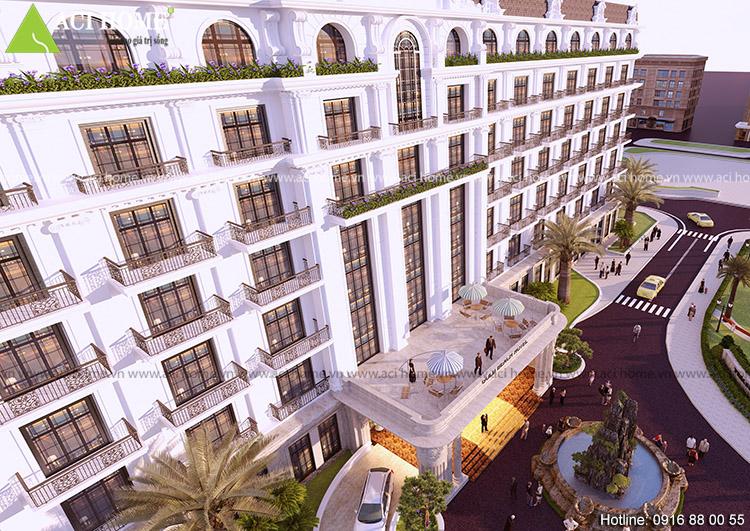Thiết kế khách sạn 4 sao kiểu cổ điển tại bãi biển Hải Tiến - View 6
