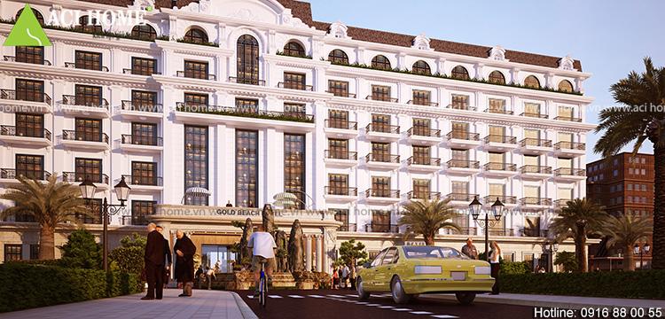 Thiết kế khách sạn 4 sao kiểu cổ điển tại bãi biển Hải Tiến - View 3
