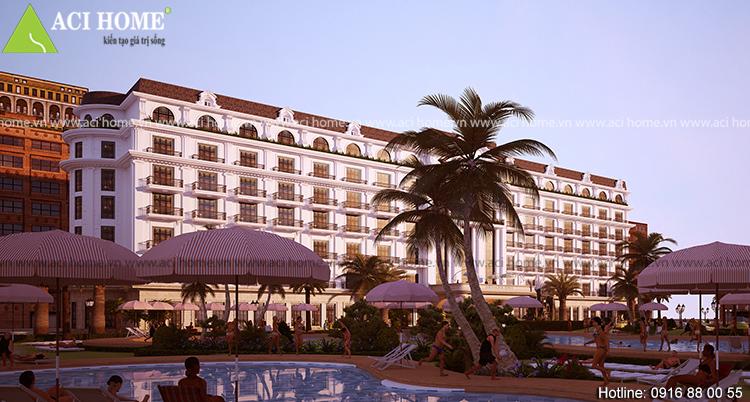 Thiết kế khách sạn 4 sao kiểu cổ điển tại bãi biển Hải Tiến - View 4