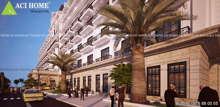 Thiết kế khách sạn 4 sao kiểu cổ điển tại bãi biển Hải Tiến - View 5