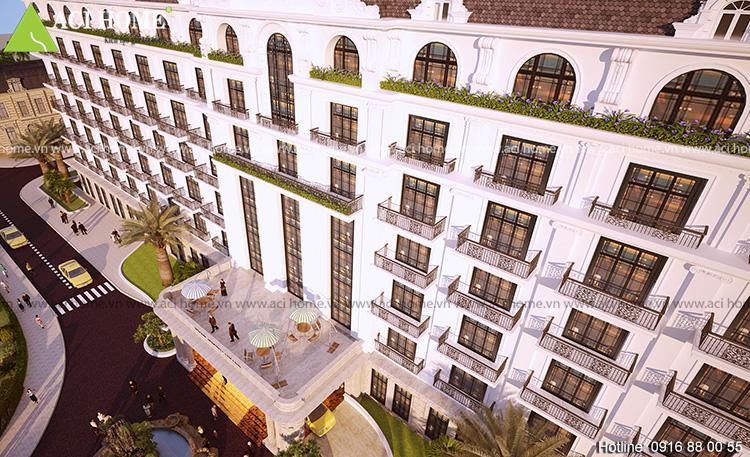 Thiết kế khách sạn 4 sao kiểu cổ điển tại bãi biển Hải Tiến - View 7
