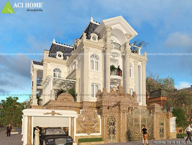 Thiết kế biệt thự kiểu Pháp đẹp tại