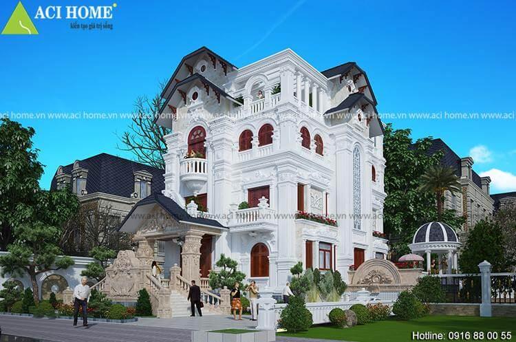 kiến trúc Pháp với đường nét hoa văn đẹp