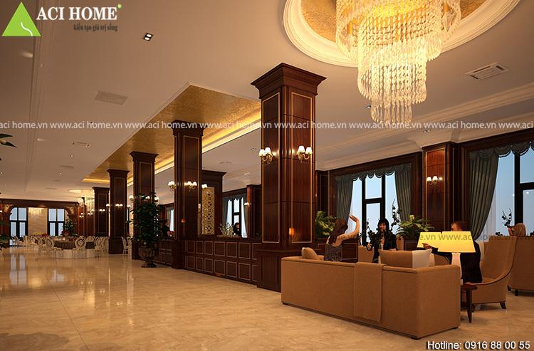 Thiết kế nội thất không gian riêng cho khách hàng làm việc