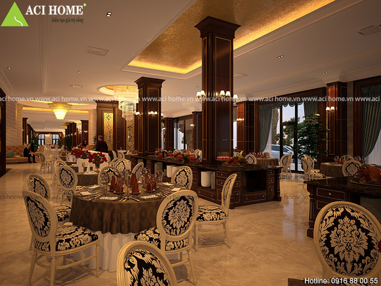 Nội thất phòng tổ chức sự kiện bên trong khách sạn Hải Tiến