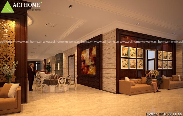 thiết kế nội thất bên trong khách sạn