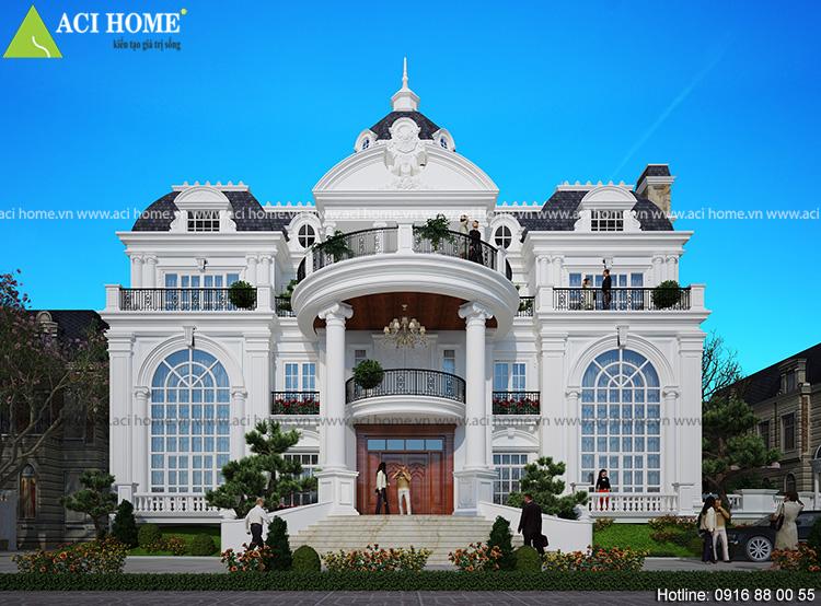 biệt thự Pháp mái đẹp tại Bắc Ninh
