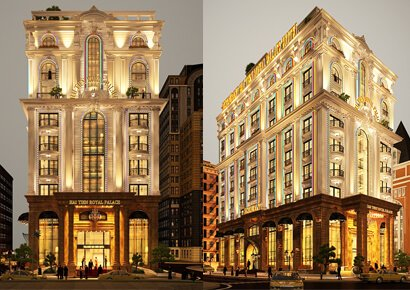 mẫu thiết kế khách sạn kiểu Pháp
