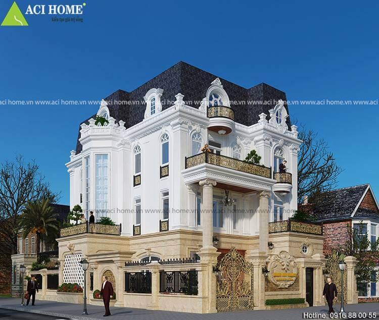 Biệt thự kiểu Pháp với góc nhìn đẹp