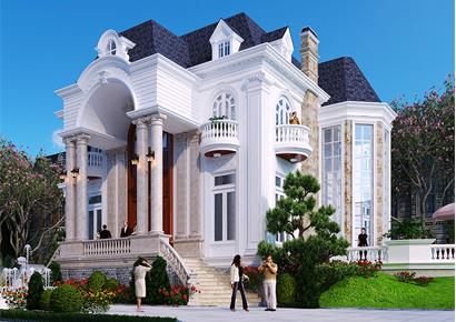 Thiết kế biệt thự kiểu Pháp tại quận 9