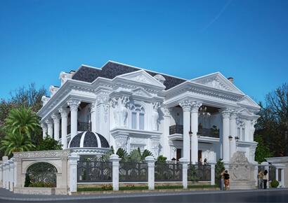 thiết kế biệt thự kiểu Pháp tại Huế