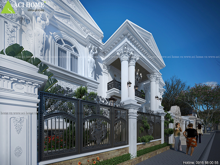 hàng rào biệt thự tại Huế