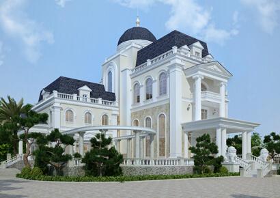 thiết kế biệt thự kiểu Pháp 5 tầng